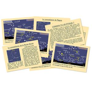 L A Librairie - Jeu - Jeu de cartes Connais-tu les étoiles (Marc Vidal) contenu